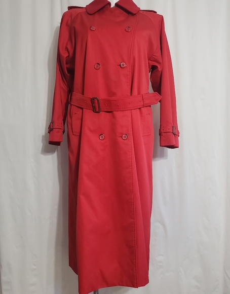 Burberry classic red long trench coat jacket